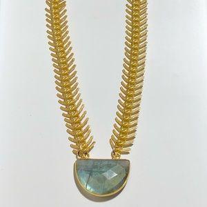 3c13adb460c32 ... Hoops Labaodrite Gold Necklace. tamrafitz